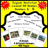 Nonfiction Leveled AA Readers Numbers 1 - 5 Math, Guided Reading, Writing, ESL