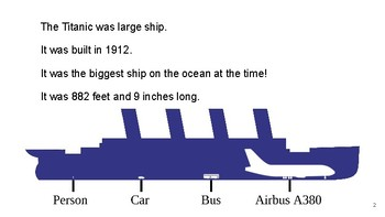 Nonfiction Leveled Text on The Titanic (DRA level 16/18)