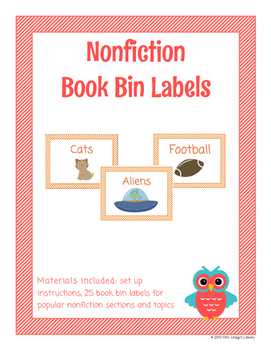 Nonfiction Library Book Bin Labels