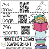 Nonfiction Library Scavenger Hunt Cards with QR Codes Printable