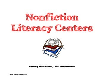 Nonfiction Literacy Centers Grade 3rd-6th