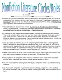 Nonfiction Literature Circle Roles