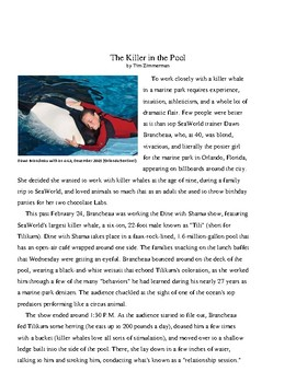 Nonfiction Literature Unit on Orcas (Tied to Blackfish)