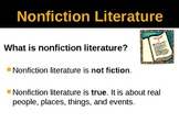 Nonfiction Literature and Text Features PowerPoint Presentation