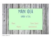 Nonfiction Main Idea Lessons, Organizer, Think Sheet, Rubr