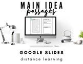 Nonfiction Main Idea Passages for Distance Learning