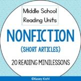 Nonfiction Middle School Reading Unit