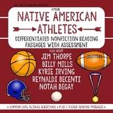 Nonfiction Close Reading Native American Athlete Passages w/ Assessment