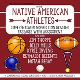 Nonfiction Native American Athlete Reading Passages w/ Assessment