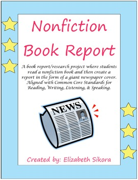 Nonfiction Newspaper Book Report