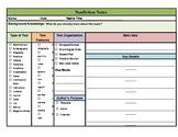 Nonfiction Notes Graphic Organizer 1 Main Idea Common Core