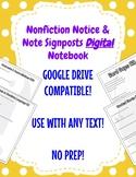 Nonfiction Notice & Note Signposts DIGITAL Notebook