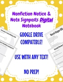 Nonfiction Notice & Note Signposts DIGITAL Notebook