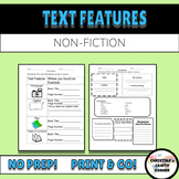 Nonfiction: Notice and Note: Text Features Worksheets