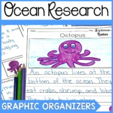 Ocean Animal Informational Writing Graphic Organizers