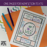 Nonfiction One-Pager Activity (Digital and PDF)