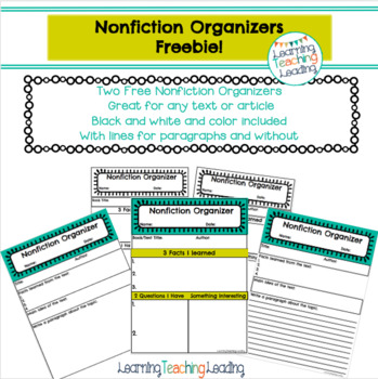 Nonfiction Organizers With Google Slide Option
