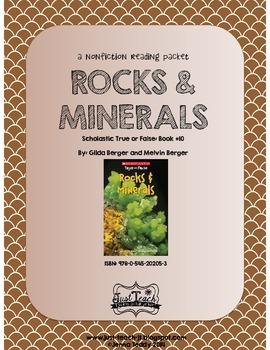 Nonfiction Packet - Scholastic's True or False Book #10: ROCKS & MINERALS