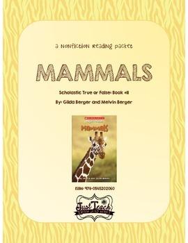 Nonfiction Packet - Scholastic's True or False Book #11: MAMMALS