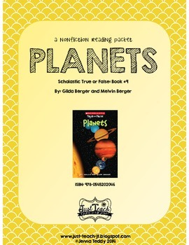 Nonfiction Packet - Scholastic's True or False Book #9: PLANETS