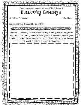 Nonfiction Packet - True or False Book #2: BUTTERFLIES & CATERPILLARS
