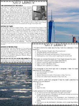 Nonfiction Paired Articles FREEBIE: Celebrated Landmarks