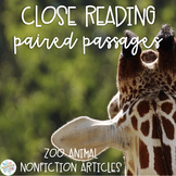 Nonfiction Paired Passages: Zoo Animals