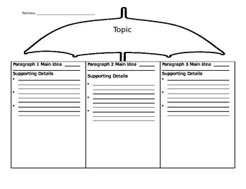 Nonfiction Paragraph Organizer