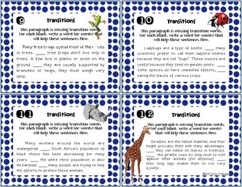 FREE Nonfiction / Informational Reading and Writing Task Cards