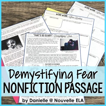 Nonfiction Passage - Demystifying Fear