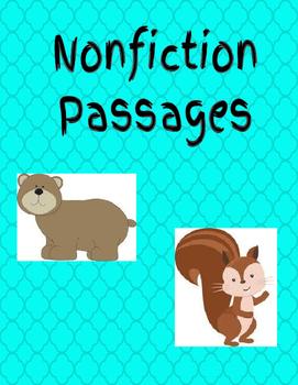 Nonfiction Passages - Woodland Animals