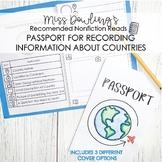 Nonfiction Text Global Citizen Passport