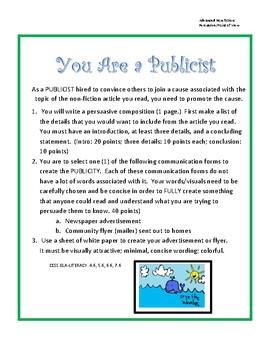 Nonfiction Persuasive Ad Campaign