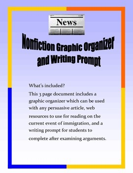 Nonfiction Persuasive Graphic Organizer and Writing Prompt