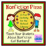 Nonfiction Call Number Pizza - School Library Activity