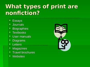 Nonfiction Power Point Presentation