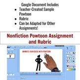 Nonfiction Powtoon Assignment and Rubric
