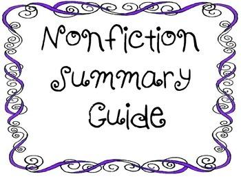 Summary-Nonfiction-Write and Analyze