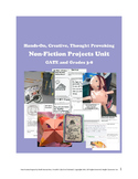 Nonfiction Projects Unit -- Creative Critical Thinking for GATE and 3rd-8th