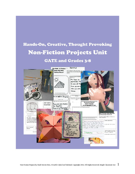 Nonfiction Projects Unit -- Creative Critical Thinking for