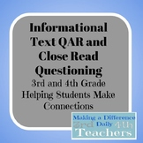 Nonfiction Close Read Questions and QAR Strategy Lesson Plan