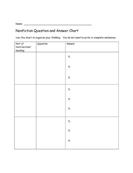 Nonfiction Question and Answer Project