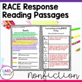 Nonfiction RACE Strategy Practice Passages Grades 3-5
