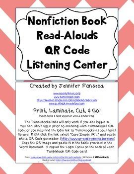 Nonfiction Read Aloud QR Code Listening Centers
