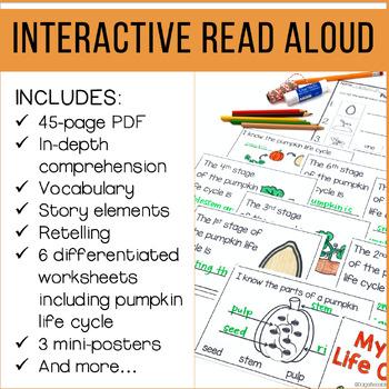 Nonfiction Read Aloud: Seed, Sprout, Pumpkin, Pie Interactive Read Aloud Lessons