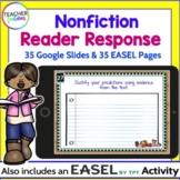 GOOGLE CLASSROOM ACTIVITIES   Reading Comprehension   NONFICTION Reader Response