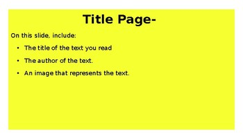 Nonfiction Reader Response- Use with GOOGLE SLIDES