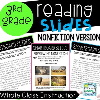 Nonfiction Reading 3rd Grade Including Main Idea Teaching Slides