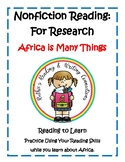 Nonfiction Reading Africa is Many Things