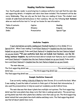 Nonfiction Reading Assessments and Homework
